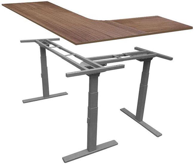 L Shaped Height Adjustable Sit Stand Desk Desk Risers Desk Desk