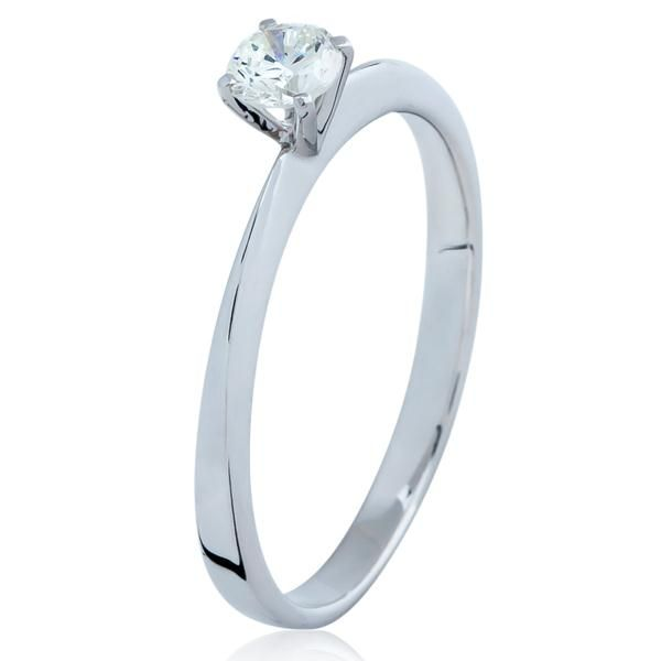 Anel Solitário Cartier em Ouro Branco com Diamante   Medalhão Persa ... 943785bbf7