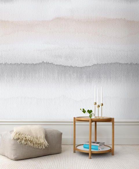 Ombre watercolour effect wall