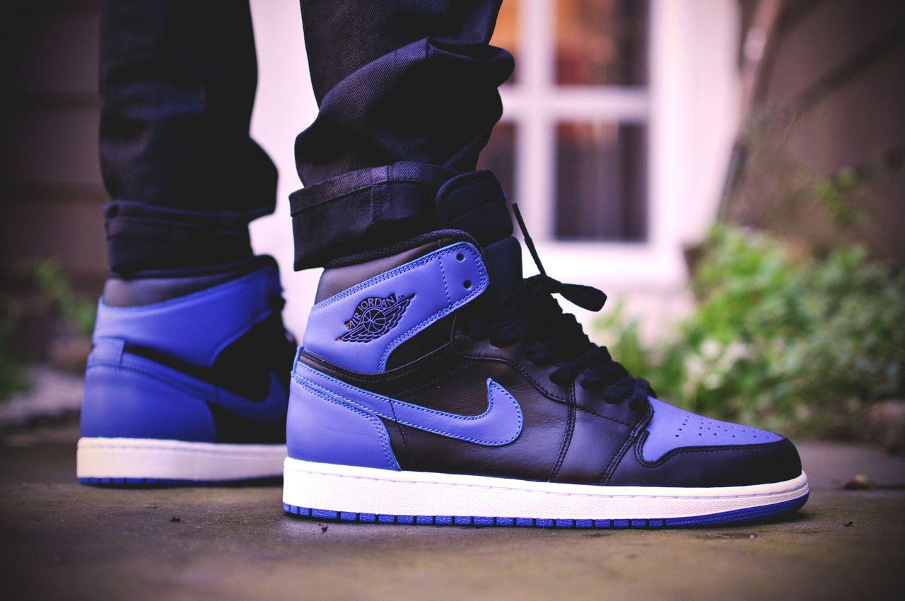 Nike Air Jordan 1 Retro High Black Royal Blue Kicks Shoes Air