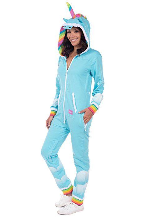 6e4a48bb7121 Women s Unicorn Onesie - Cute Comfy Adult Unicorn Jumpsuit  Large ...