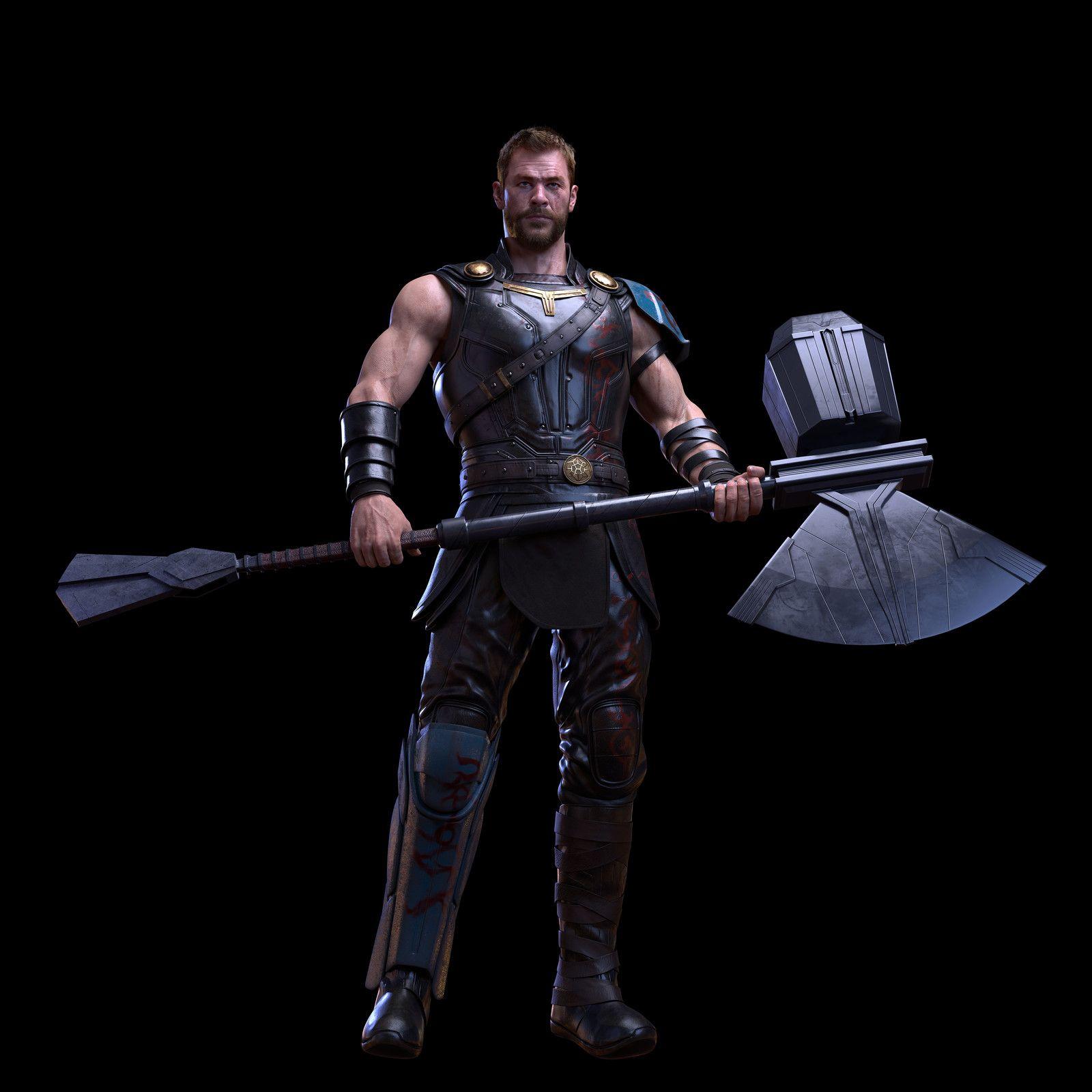 new hammer thor fanart xie boli on artstation at https www