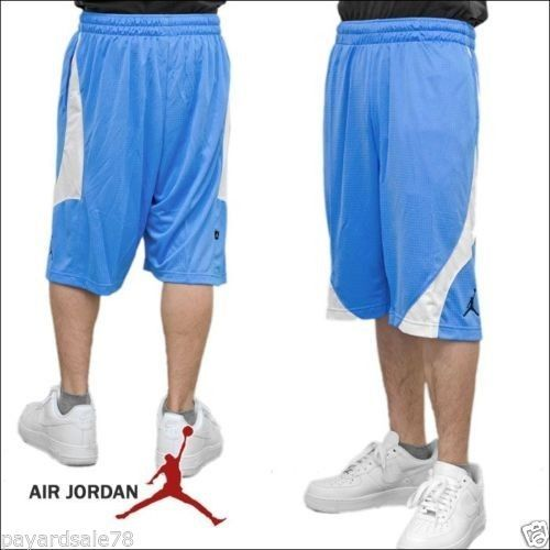 8257bf319ebc24 MEN S XL NIKE BASKETBALL SHORTS BABY BLUE   WHITE JORDAN COURT CUT DRI-FIT   Nike  Shorts