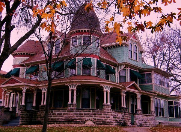 Galesburg Il Historic Painted Lady Victorian Home In Autumn Photo By Henry Juhala Victorian Homes