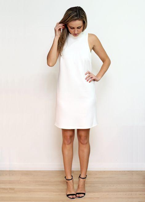 dress white summer fashion style minimal  www.thebirdtree.com.au