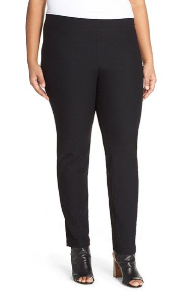 e9b54faf61294c Eileen Fisher Stretch Crepe Slim Leg Pants (Plus Size) | pants pants ...