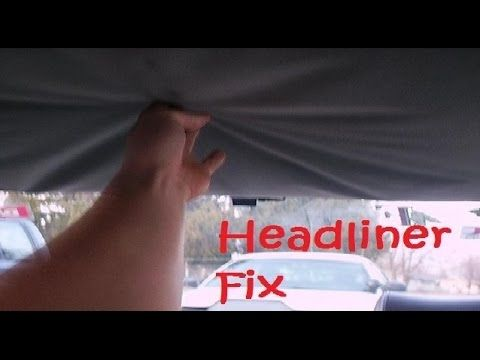 How To Fix Car S Headliner With Carpet Tape Tips Made Easy Cheap N Headliner Repair Headlines Car Fix