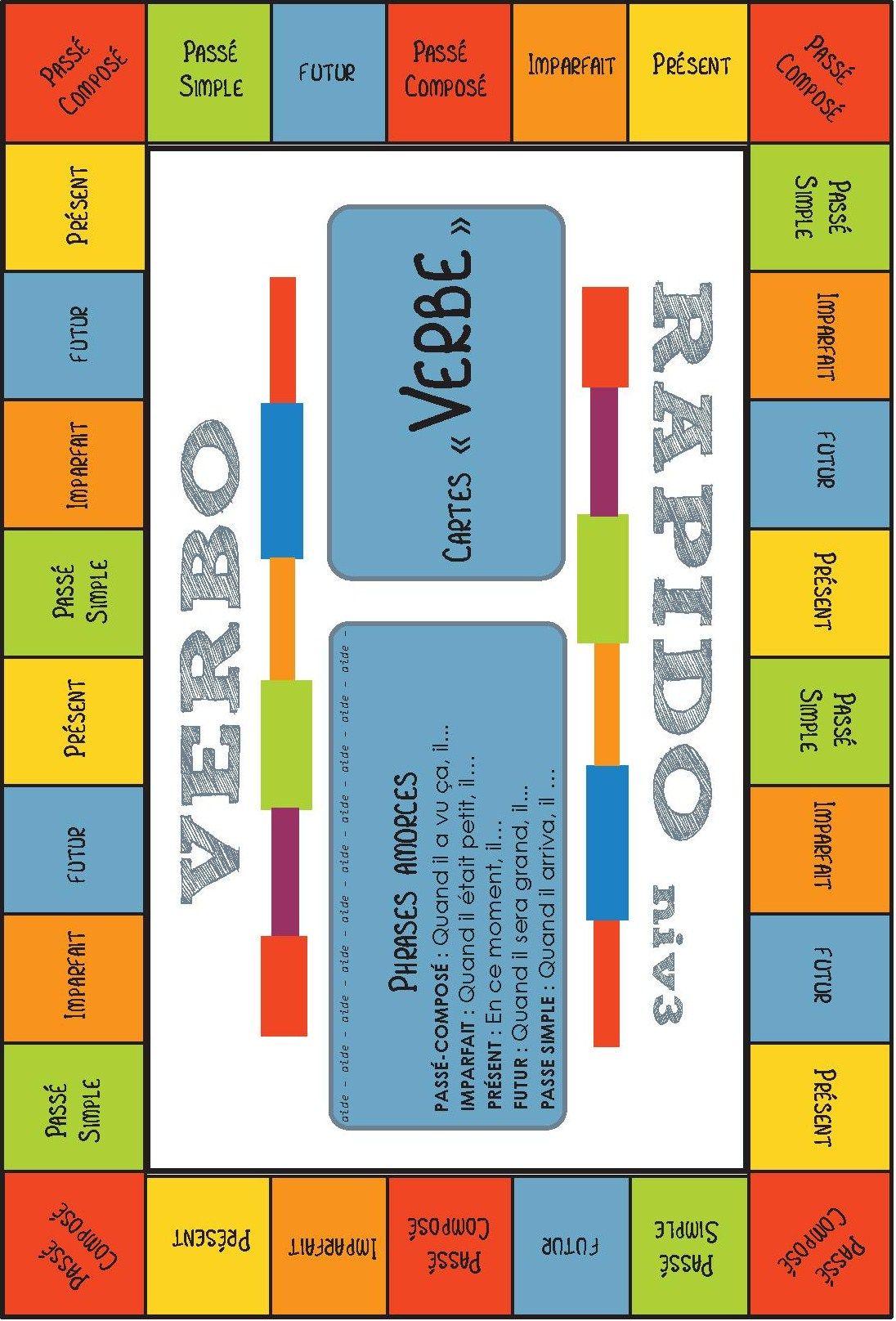 Jeu pour la classe conjugaison verbo rapido cycle 3 - Conjugaison cm2 a imprimer ...