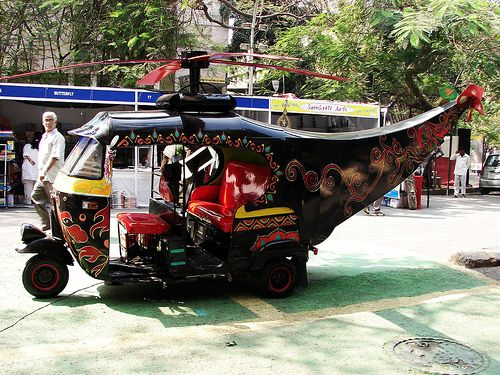 Heli Rickshaw Funny Pictures Vehicles Funny Images