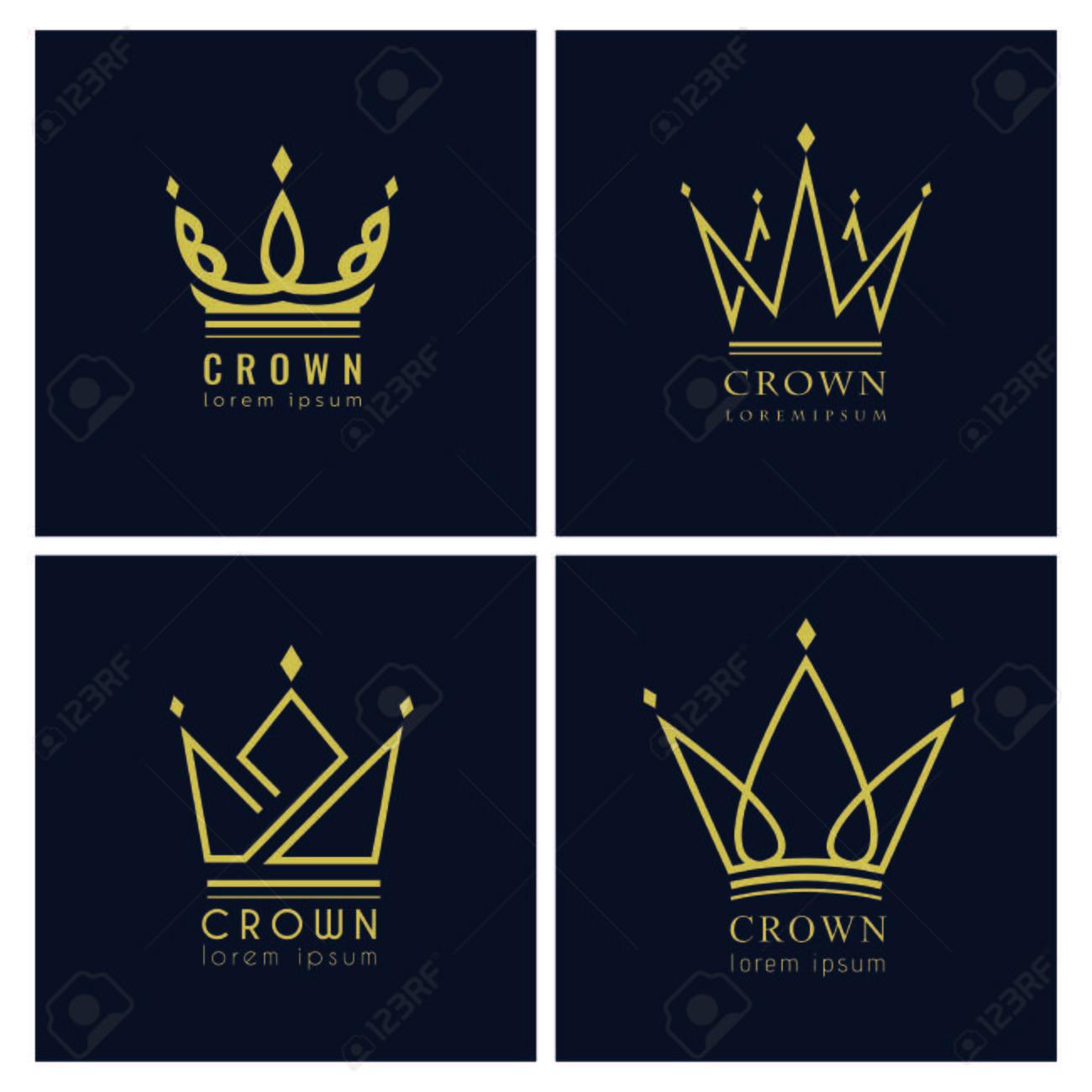 Vintage Crown Logo Royal King Queen Abstract Logo Design Vector Template. Clip Art Libres De Droits , Vecteurs Et Illustration. Image 114839817.