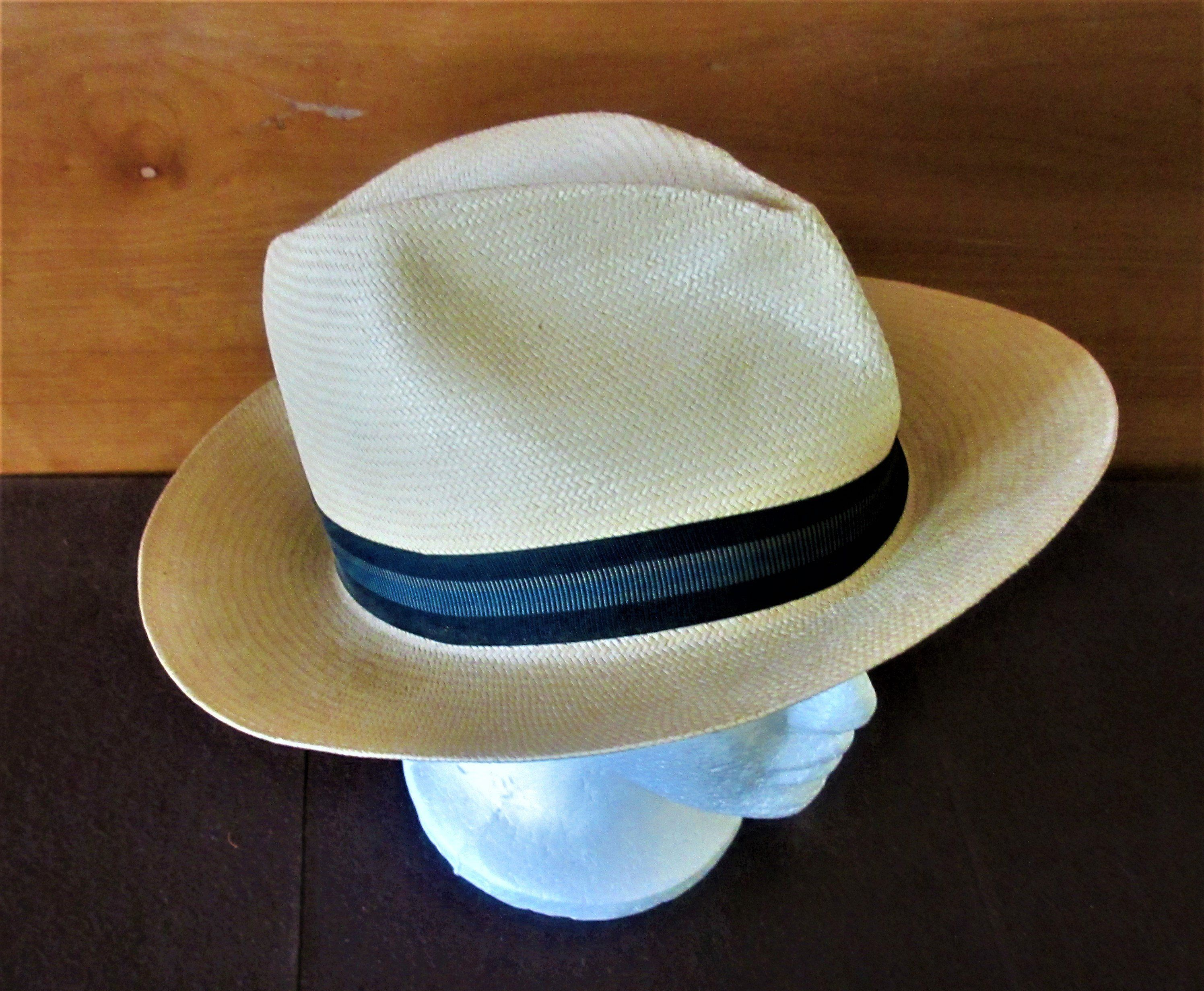 615c83c29be15 Stetson Hat Fedora vintage Straw Men s 2 1 2 inch brim Size 7 1 8 by  BlueMoonVintageToo on Etsy