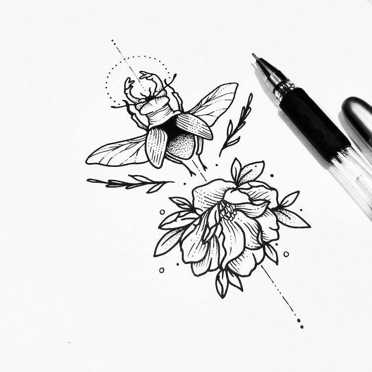 Illustrative Tattoos Sollefe S Black Ink Tattoos Black Ink Tattoos Tattoo Design Drawings Ink Tattoo