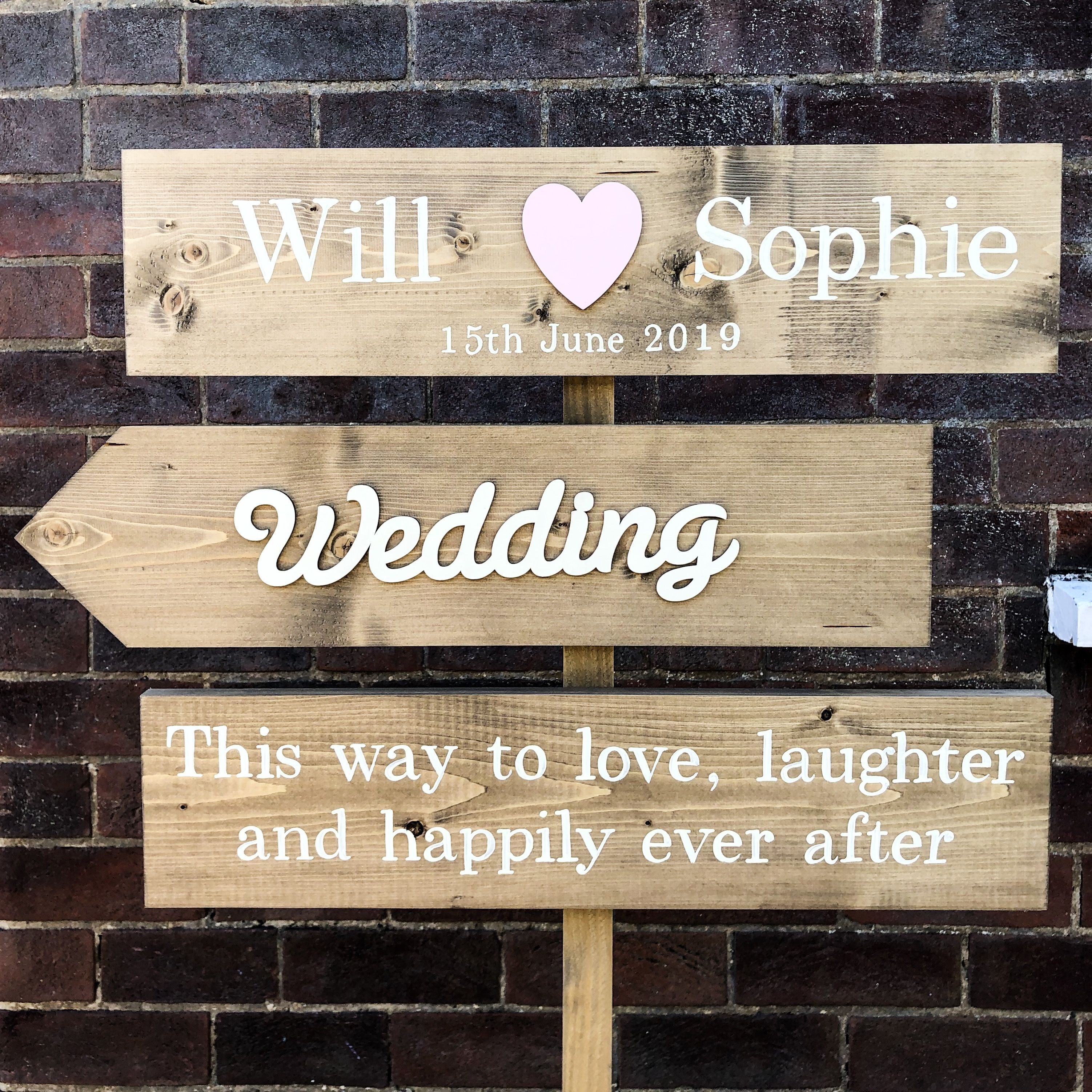 Personalised Wedding Sign Post Wedding Signs Personalized Wedding Sign Wood Wedding Signs