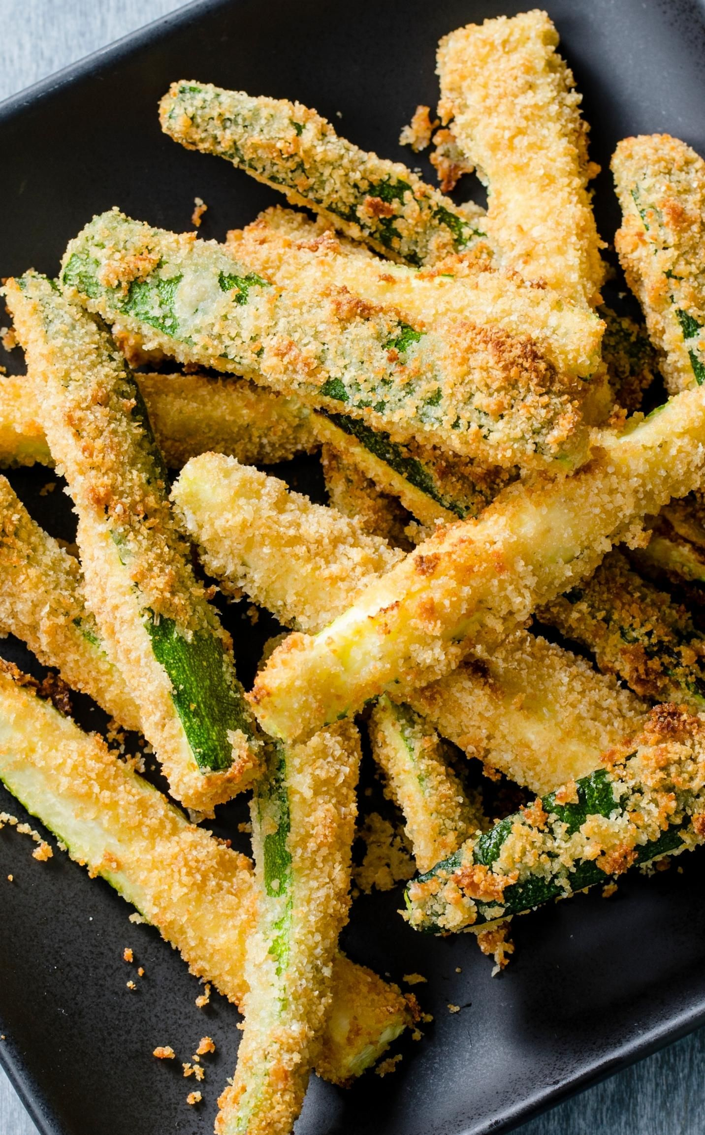 airfryer zucchini fries how do you get crispy healthy