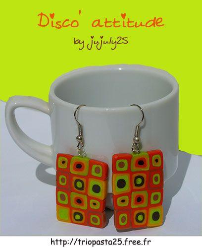 Fimo earrings by jujuly