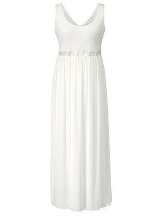 Sara Lindholm Spitzen-Bustier-Kleid mit Satinband & Pailletten