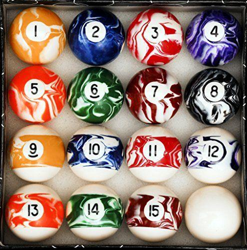 Pool Table Billiard Ball Set Marble/Swirl Style Iszy Billiards // & Pool Table Billiard Ball Set Marble/Swirl Style Iszy Billiards http ...