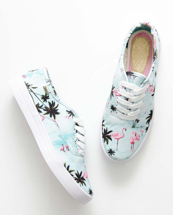 FlamingosShoes Zapatos Tenis Pinterest De Estampado 5j3A4RL