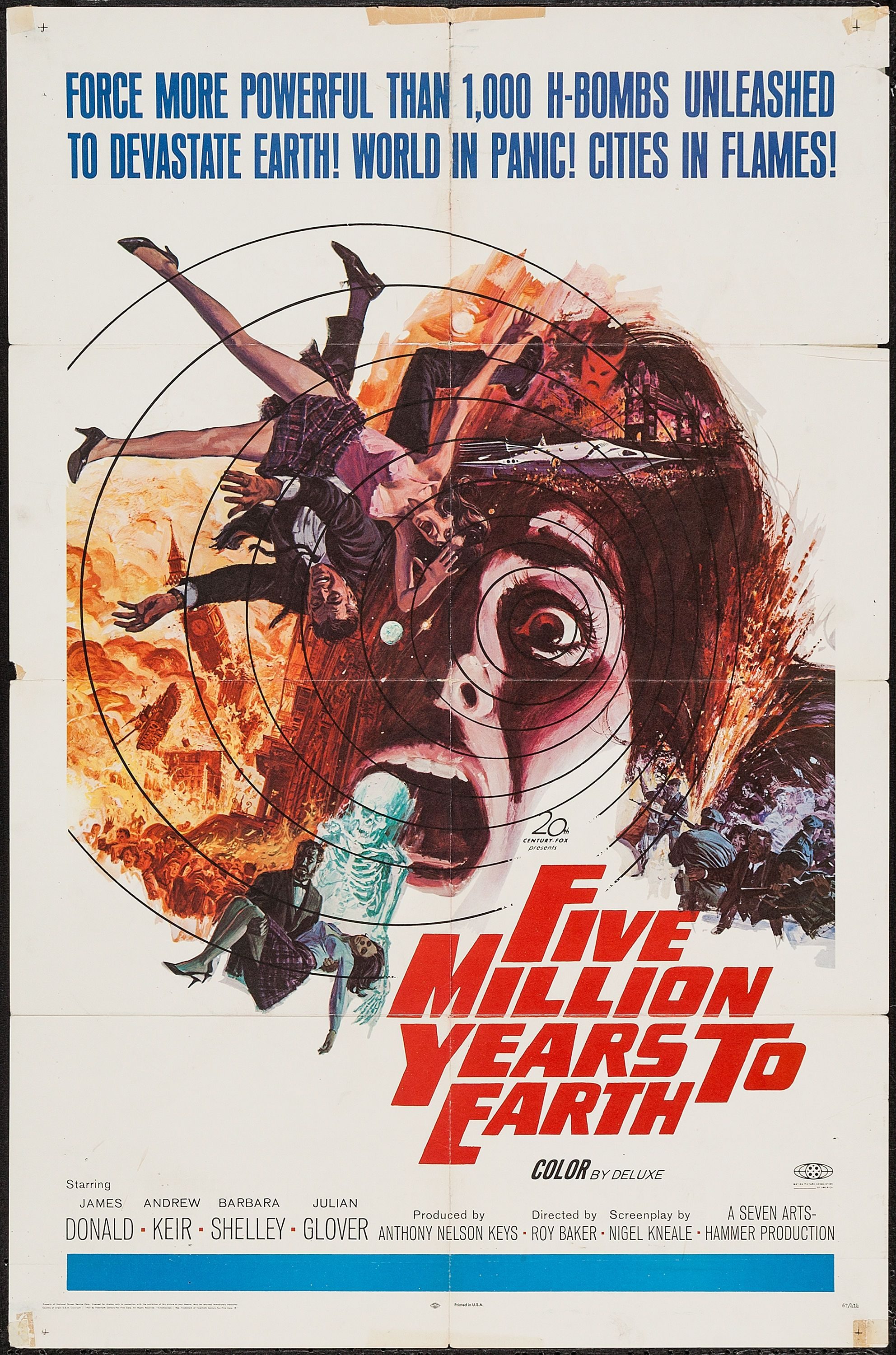 Five Million Years to Earth (20th Century Fox, 1967). One Sheet ...