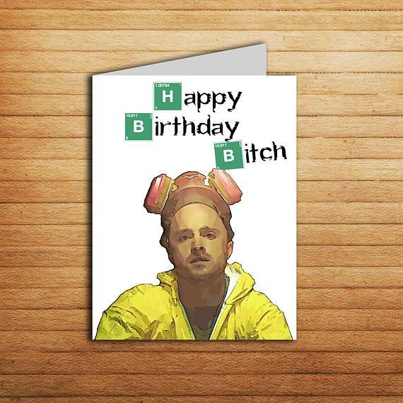 Jesse Pinkman Card Breaking Bad Birthday Card For Boyfriend Funny