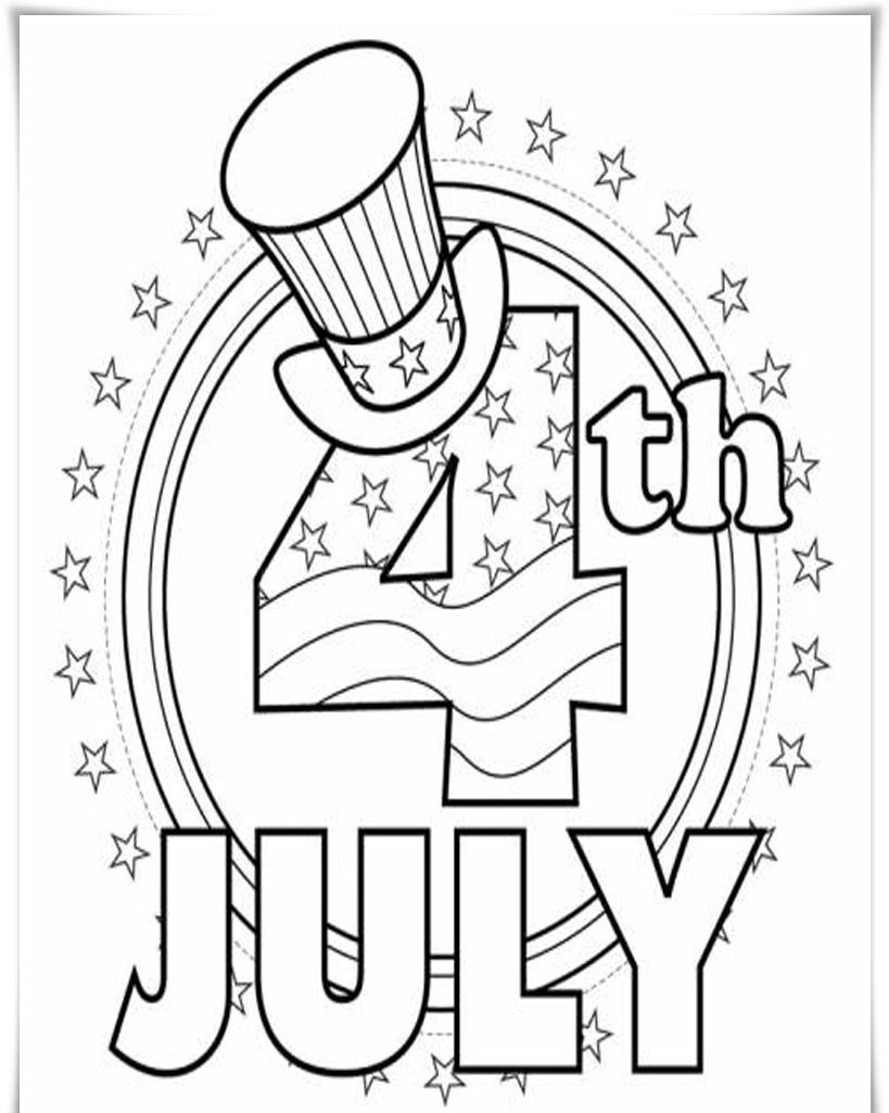 4th Of July Coloring Pages For Preschoolers Kidscp Free