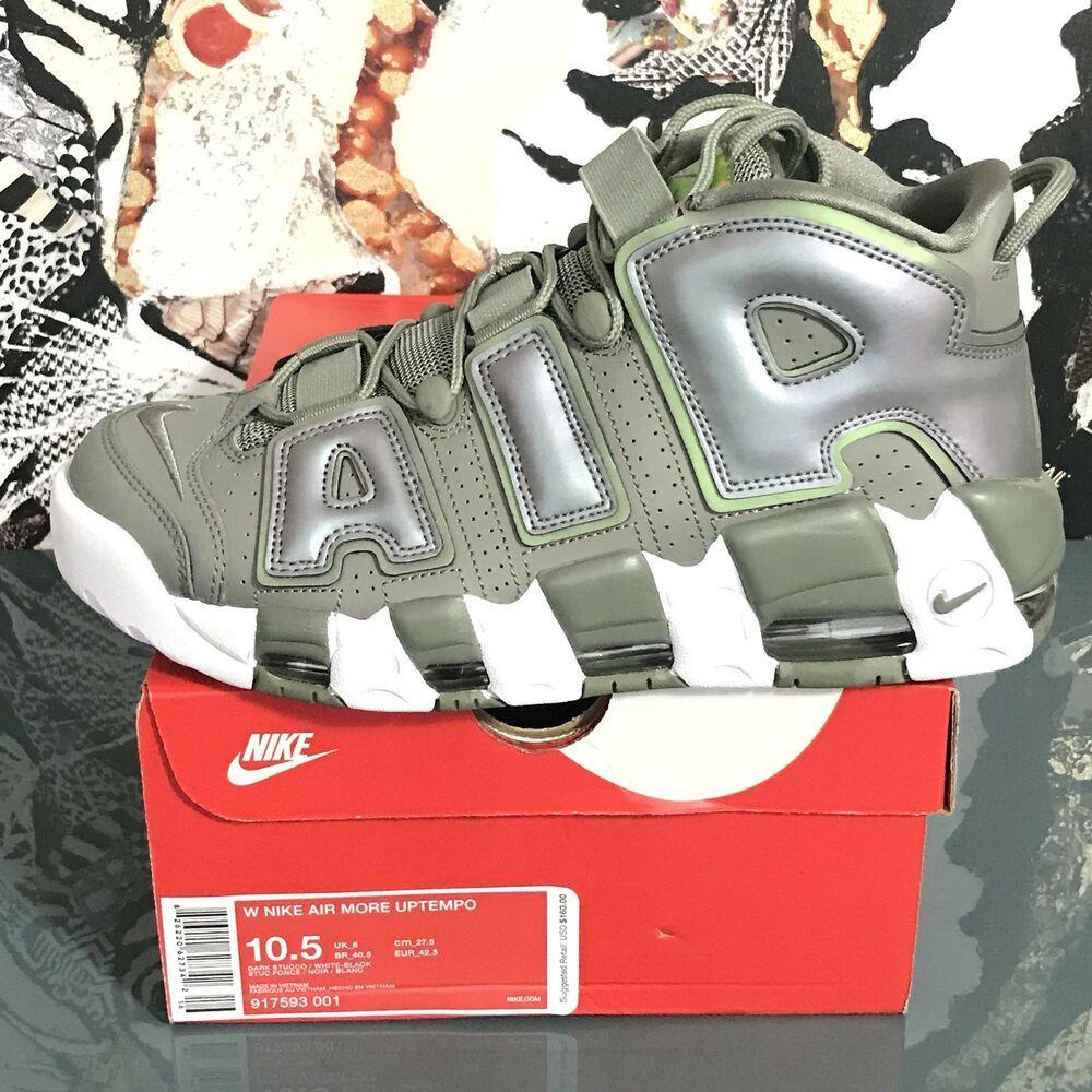 6a61d0b179b9e Nike Air More Uptempo 917593 001 Dark Stucco White Womens Size 10.5 ...
