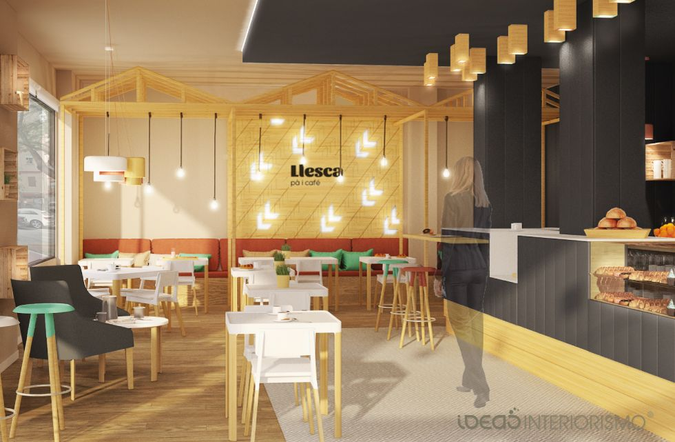 Proyecto interiorismo panader a cafeter a llesca for Interiorismo y decoracion en valencia