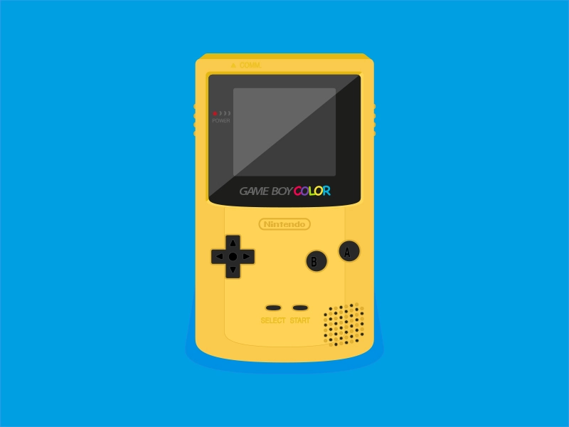 Flat Game Boy Color In 2020 Gameboy Retro Graphics Games