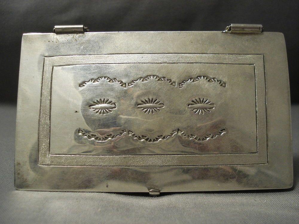For businesses! vintage navajo sterling silver business card case ...