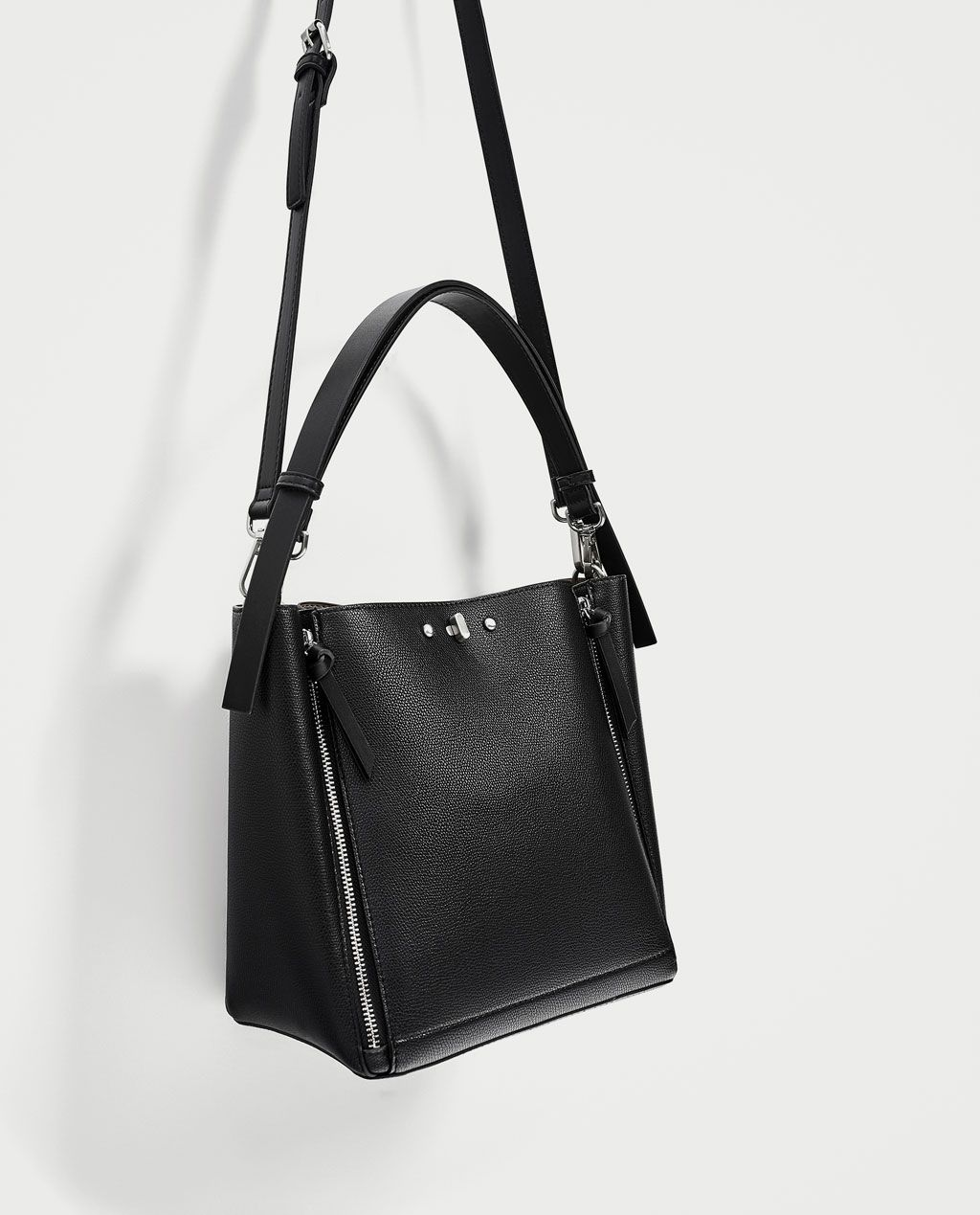 2534b3658d Image 1 of BUCKET BAG WITH ZIPS from Zara | Purses | Bags, Bucket ...
