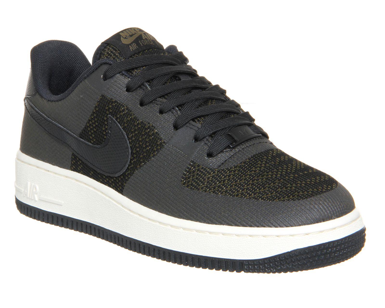 Nike Air Force 1 07 Trainers Medium Olive White Gum Hers