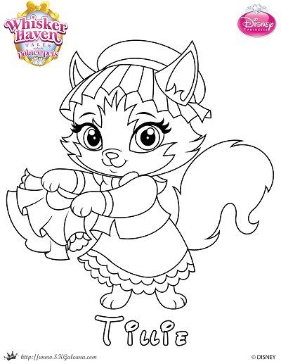 Disneys Whisker Haven Palace Pets Tales Coloring Page Of Tillie