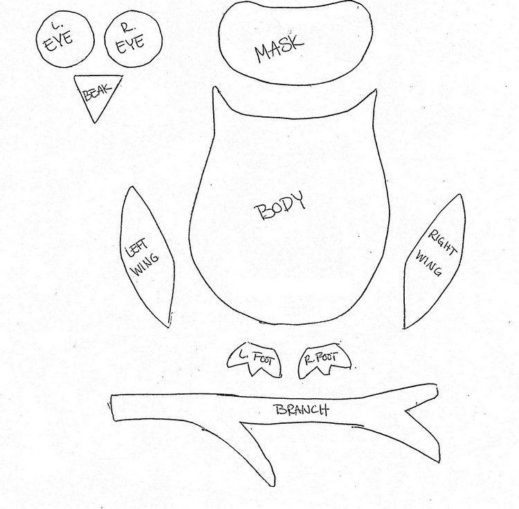 Eule Bastelvorlage Körperteile Ausdrucken Und Als Schablone