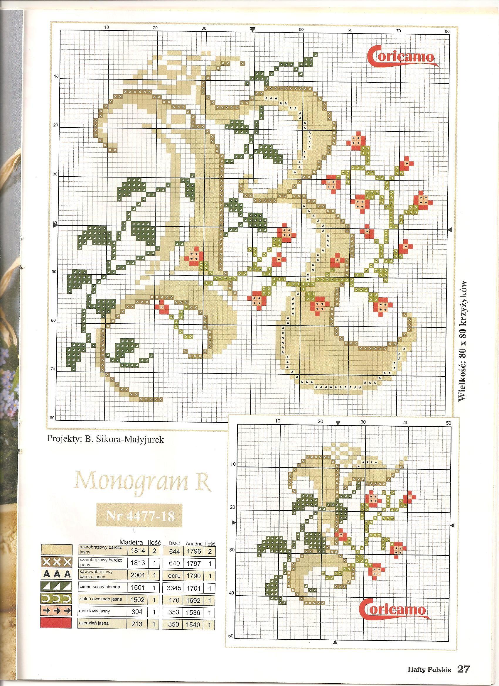 Pin di lidia sironi su monogrammi cross stitch alphabet for Ricamo punto croce lettere