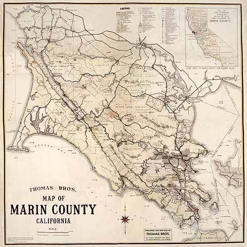 Thomas Bros. Map of Marin County   REPRODUCTIONS | Bayview Living