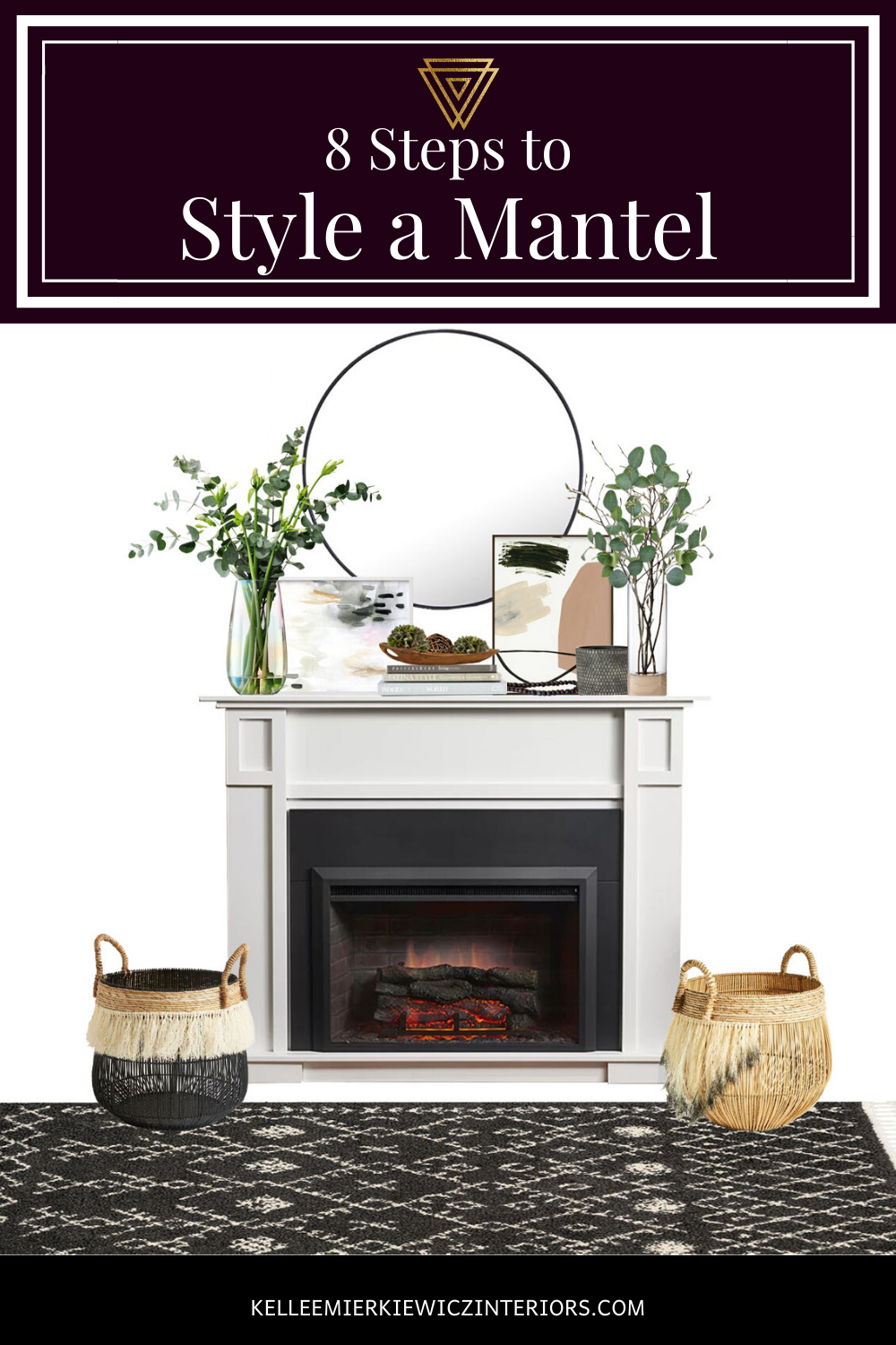 How To Style A Mantel Kellee Mierkiewicz Interiors In 2020 Small Living Room Decor Living Room Mirrors Fireplace Mantel Decor #small #living #room #with #fireplace #decorating #ideas