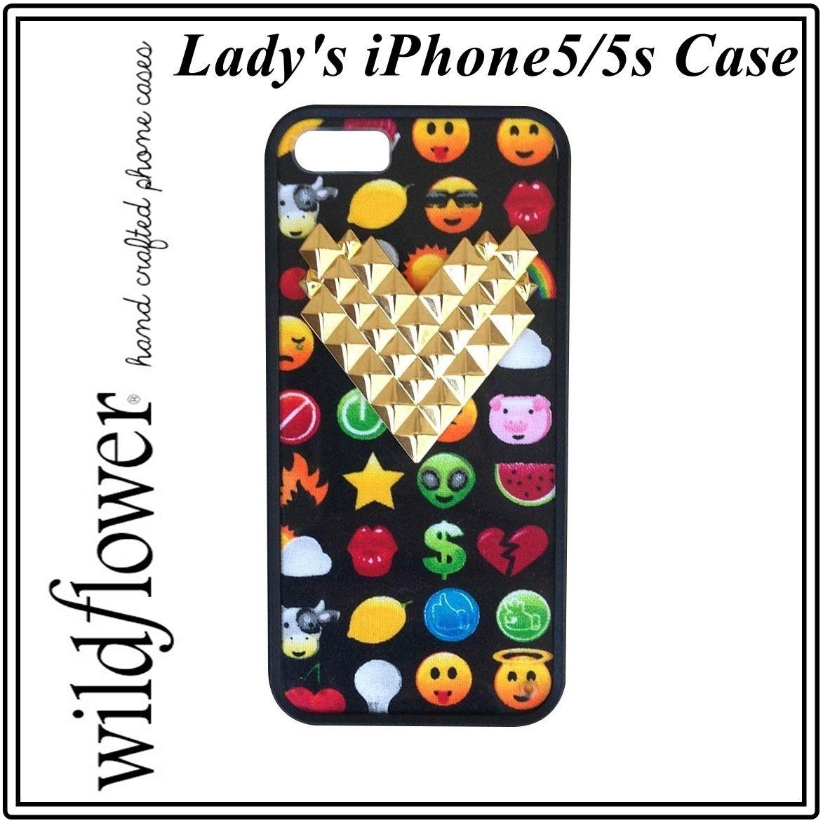 Wildflower ワイルドフラワー ロサンゼルス の 可愛い 絵文字iphoneケース iphone5 5s ケース スマイル 宇宙人 ポップアート カバー