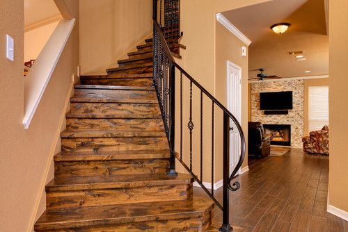 Rustic Mountian Stair Railings: Wood And Iron Rustic Stair Railing