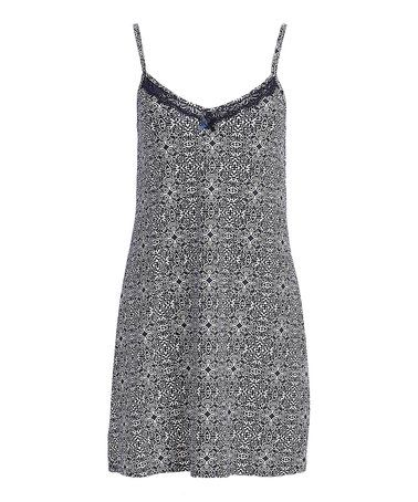 522dcf5ded8d Look what I found on #zulily! Navy Geometric Lace-Trim Nightgown ...