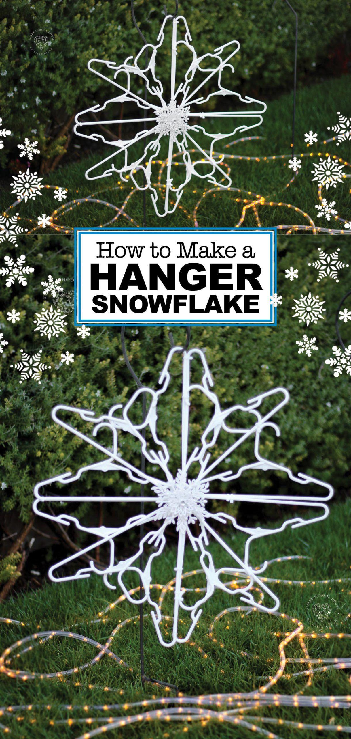 Christmas Decorating Tricks Hanger crafts, Snow flakes