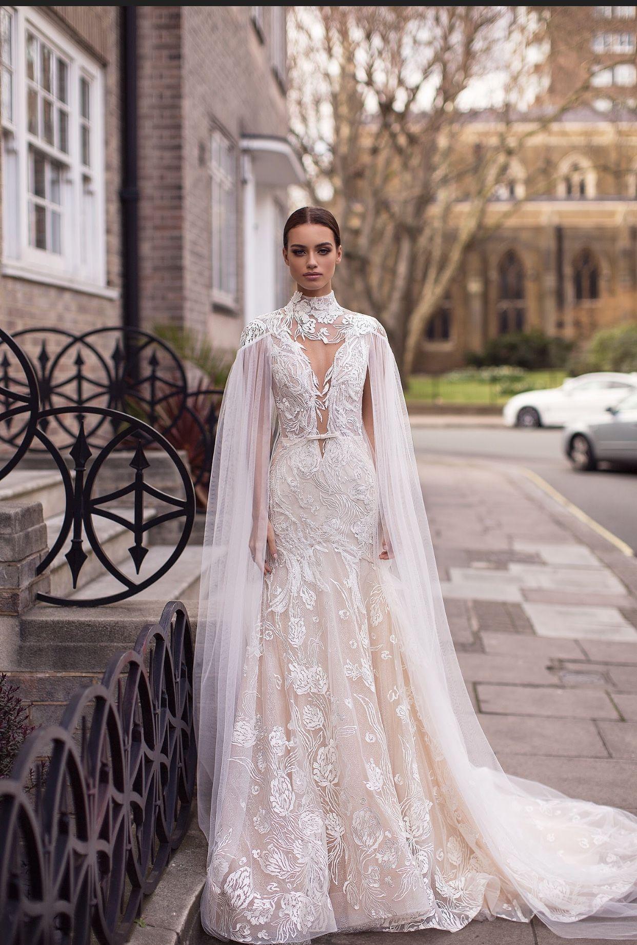 Lace Mermaid Wedding Dress Milla Nova High Neck Wedding Dress Wedding Dresses Designer Bridal Gowns [ 1842 x 1242 Pixel ]