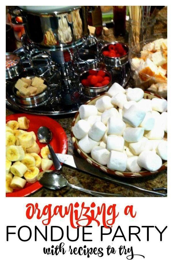 A Fondue Party Tips on organizing a fondue party and a chocolate fondue recipe. Fondue parties are