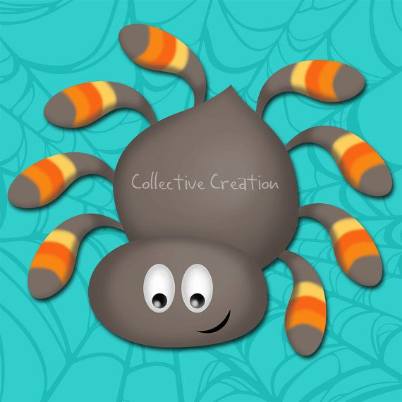Itsy Bitsy Spider Digital Clipart - Clip Art for Cards, Scrapbooking and Paper Crafts