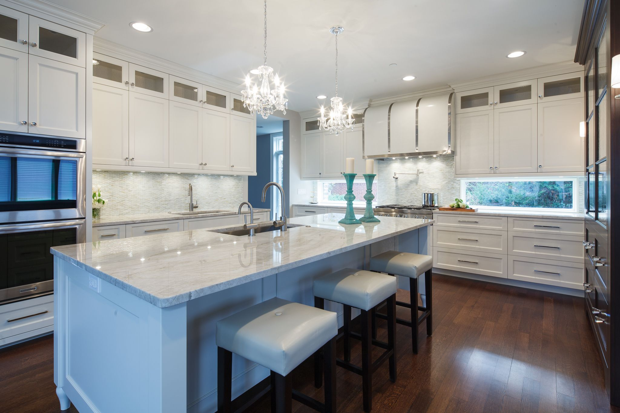 Custom kitchen with Tons of Natural light and modern ...