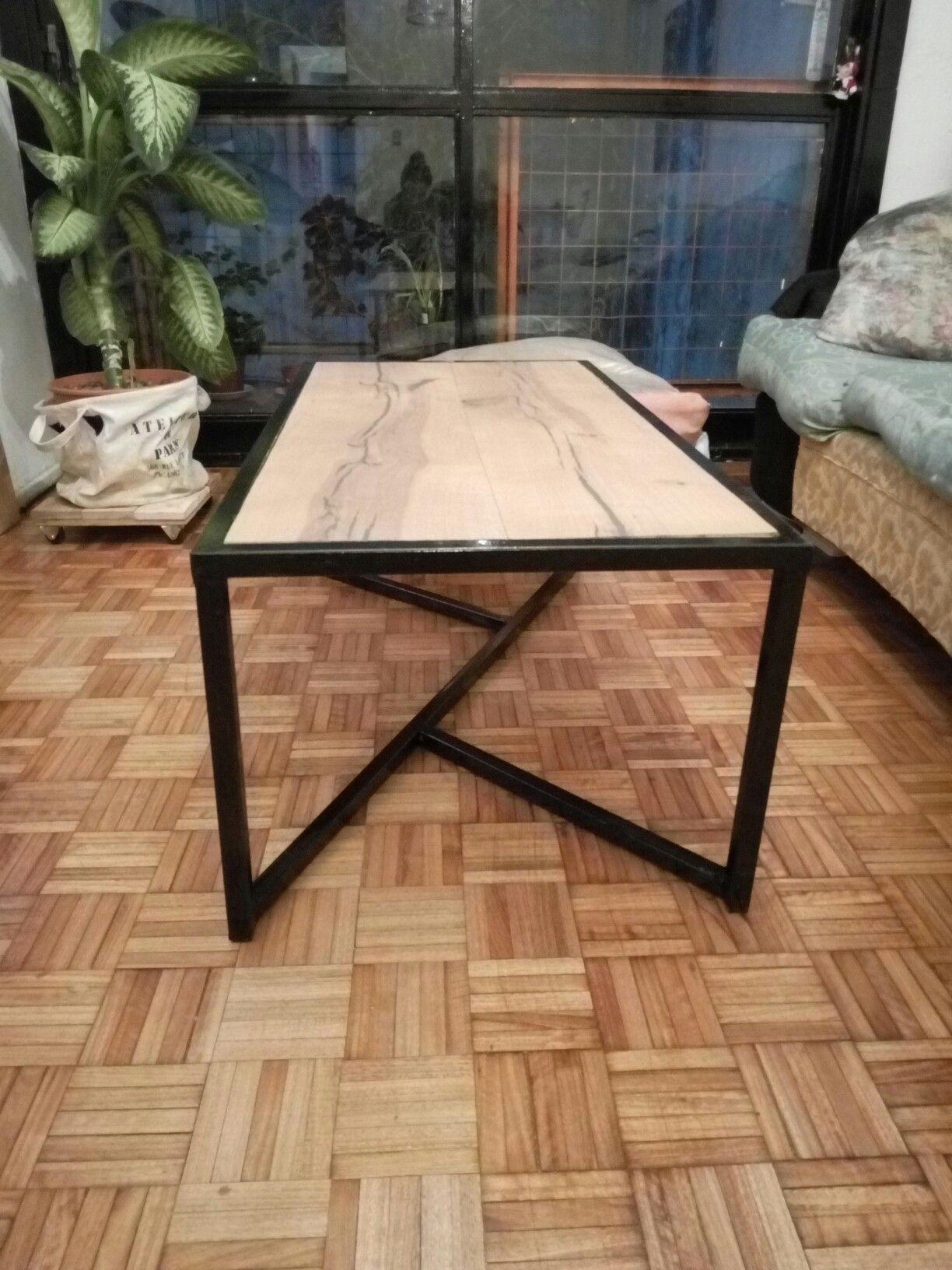 Mesa ratona hierro y madera. Diseños a medida | Muebles hierro ...