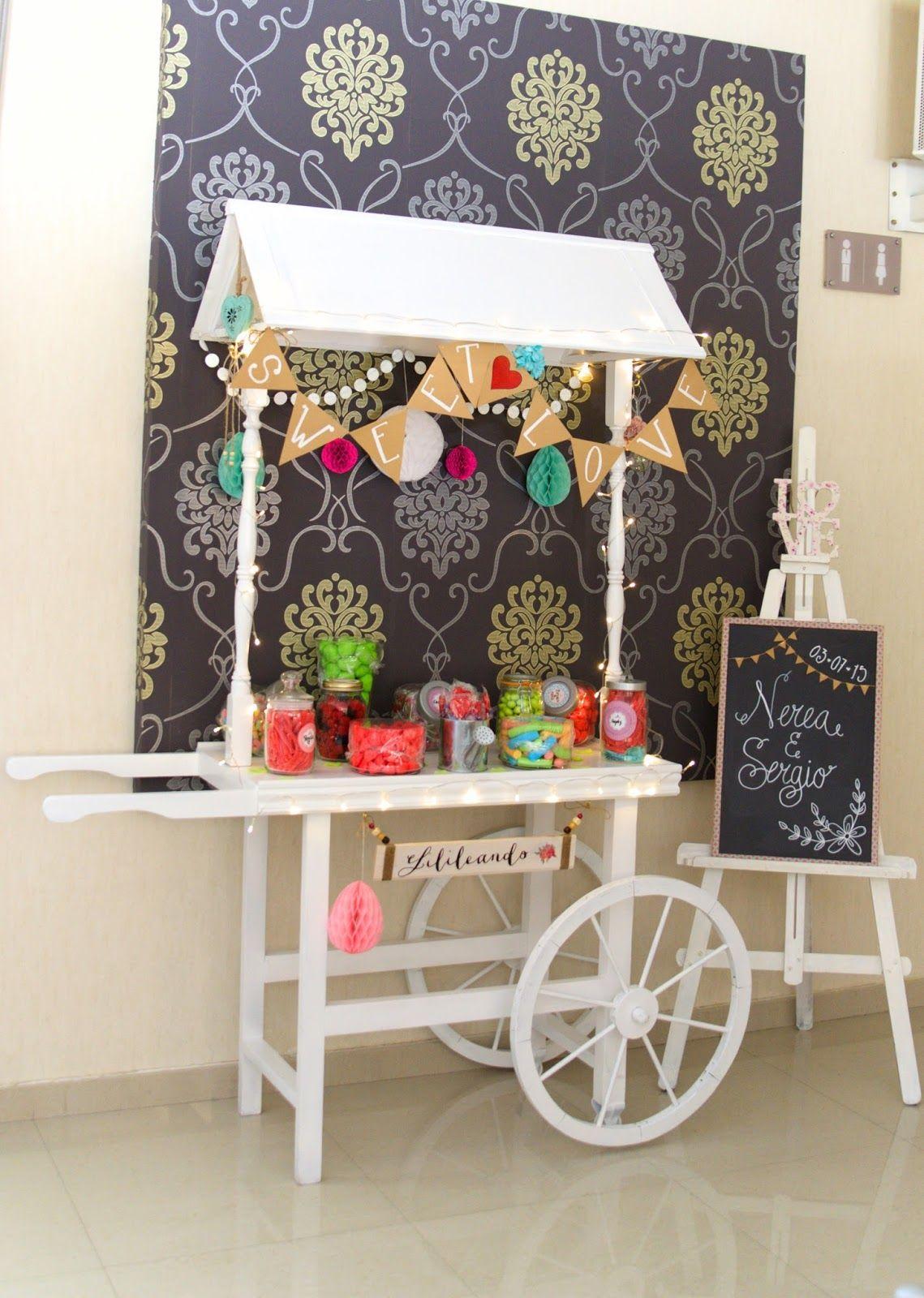 Lilileando carrito dulce de lilileando torre eiffel dulces carritos de dulces y carreta de - Ideas para decorar mesas de chuches ...