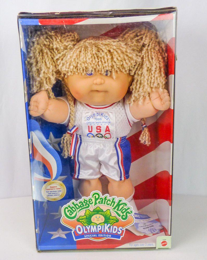 New Vtg Cabbage Patch Kids Olympikids 1996 Olympics Basketball Girl Blonde Curls Basketball Girls Cabbage Patch Kids Olympic Basketball