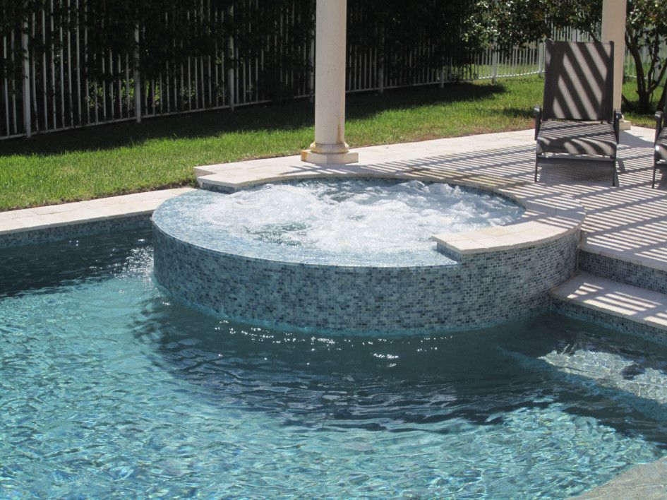 Magnetic Master Tile Pool And Spa With Round Outdoor Spa