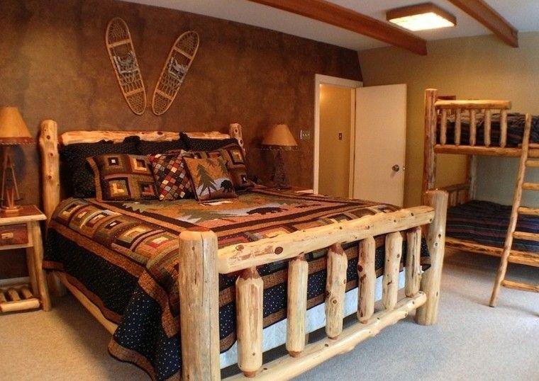 Casas rusticas habitaciones acogedoras en 25 ideas Dormitorios