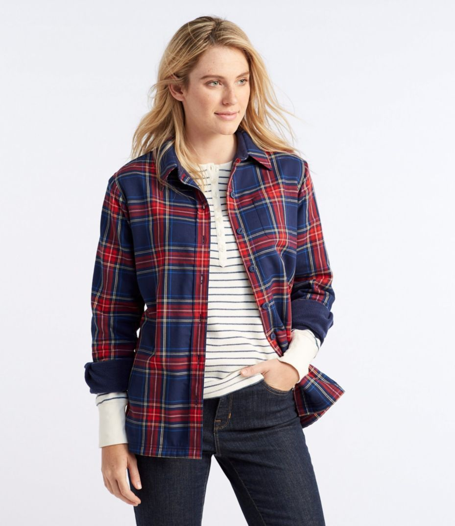 Flannel shirt outfits for women  Womenus FleeceLined Flannel Shirt  Apparel  Pinterest  Flannel